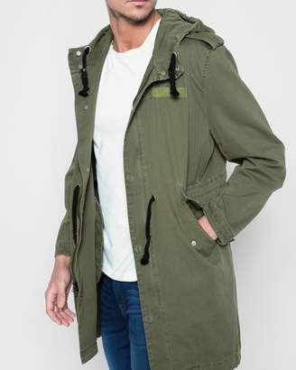 7 For All Mankind Hooded Parka in Army