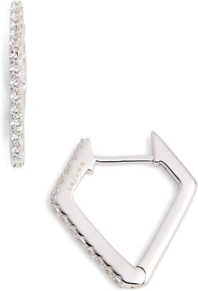 Lafonn Diamond-Shaped Hoop Earrings