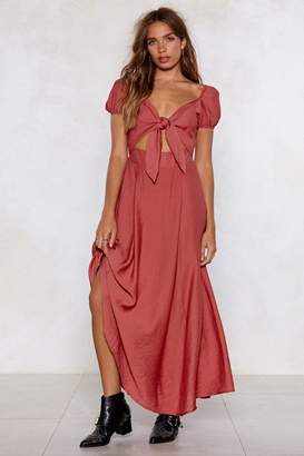 Nasty Gal High and Tie Maxi Dress