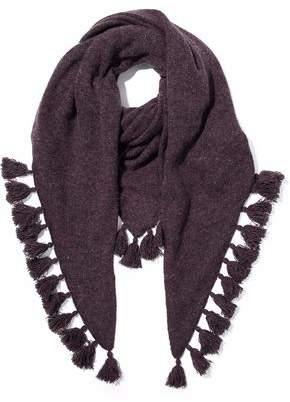 Autumn Cashmere Tasseled Donegal Cashmere Scarf