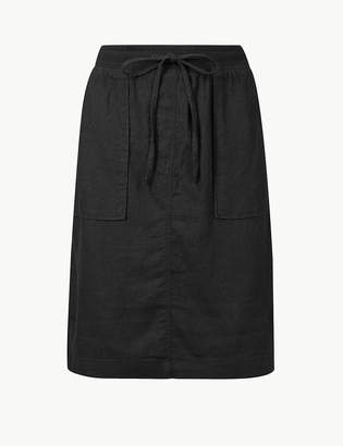 Marks and Spencer Linen Rich A-Line Skirt