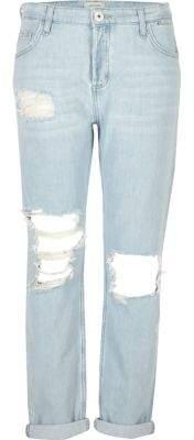 River IslandRiver Island Womens Light blue ripped boyfriend jeans