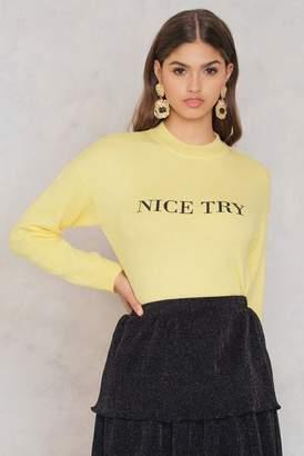 NA-KD Na Kd Printed Knitted Sweater