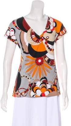 Emilio Pucci Floral V-Neck T-Shirt