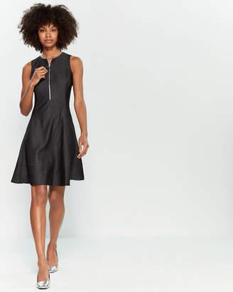 DKNY Sleeveless Zip Fit & Flare Dress