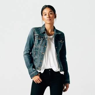 DSTLD Womens Denim Jacket in Medium Vintage