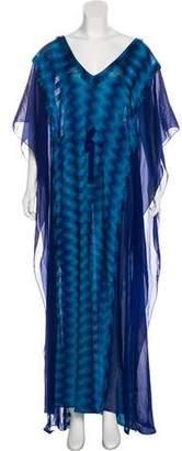 Missoni Mare Fringe-Trimmed Maxi Dress w/ Tags