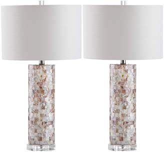 Safavieh Boise Capiz Shell Table Lamps, Set of 2