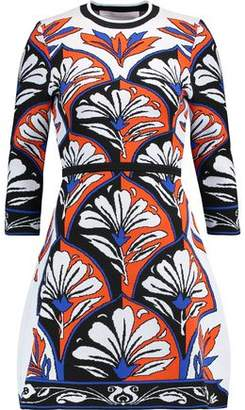 Victoria Beckham Victoria Intarsia Stretch-Knit Mini Dress