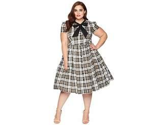 Unique Vintage Plus Size 1950s Style Button Up Swing Dress