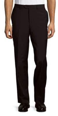 Saks Fifth Avenue Wool Flat-Front Trousers