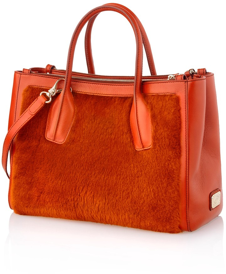 Tod's D-Styling Small Fur Tote Bag