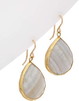 Devon Leigh 18K Plated & 14K Filled Agate Earrings