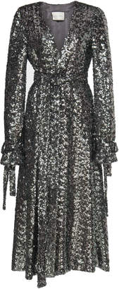 Alexis Niecy Sequined Wrap Coat