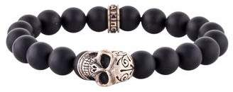 King Baby Studio Onyx Skull Bead Bracelet