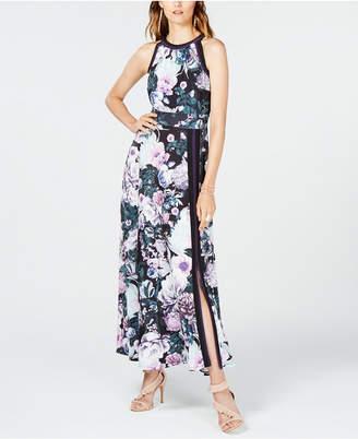 INC International Concepts I.n.c. Printed Varsity-Stripe Maxi Dress