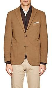 "Boglioli Men's ""K Jacket"" Cotton Two-Button Sportcoat-Beige, Tan"