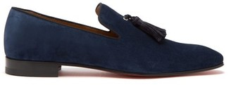 Christian Louboutin Officialito Serge Tassel Loafers - Mens - Blue