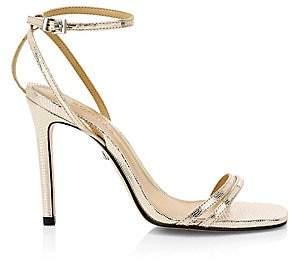 Schutz Women's Altina Metallic Leather Stiletto Sandals