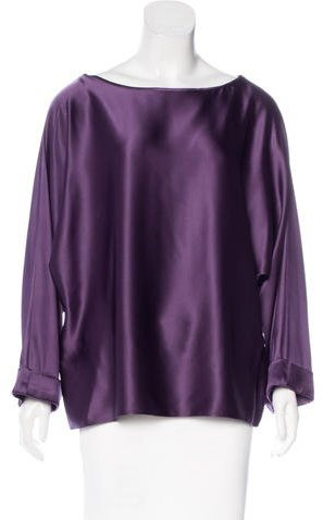 Ralph Lauren Silk Dolman Sleeve Top