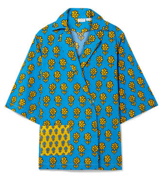 Rhode Resort - Carl Printed Cotton Top - Azure