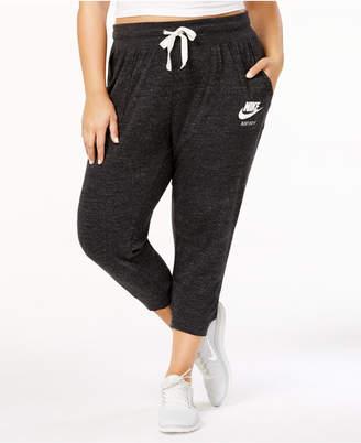 Nike Plus Size Gym Vintage Capri Pants $45 thestylecure.com