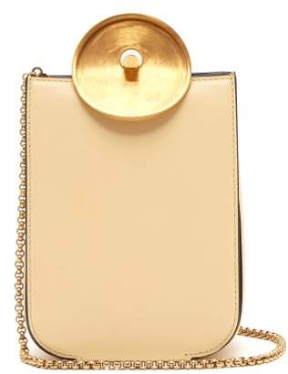 Marni Monile Leather Cross Body Bag - Womens - Cream