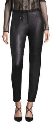 BCBGMAXAZRIA Knit Faux Leather Leggings