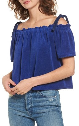 Women's Juicy Couture Venice Beach Microterry Off The Shoulder Top $78 thestylecure.com