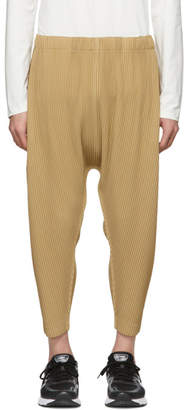 Issey Miyake Homme Plisse Beige Pleated Drop Trousers