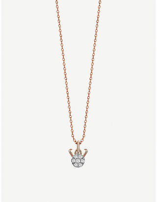 Rosegold The Alkemistry Kismet By Milka 14ct rose-gold and diamond Capricorn necklace