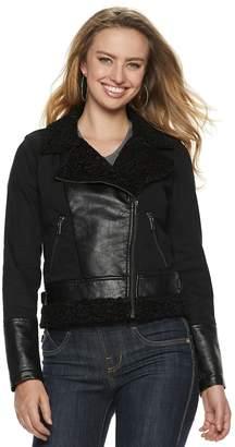 Rock & Republic Women's Mixed-Media Moto Jacket