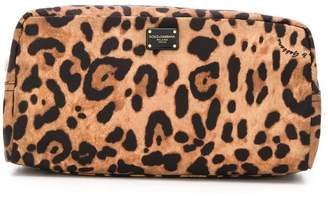 Dolce & Gabbana leopard print make-up bag