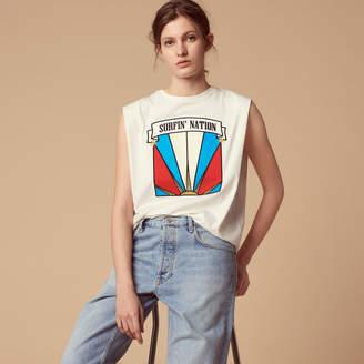 Sandro Sleeveless Surfin nation T-shirt