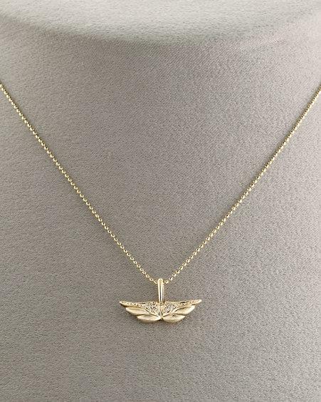Sydney Evan Angel Wings Necklace