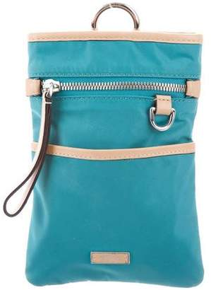 Tumi Leather-Trimmed Nylon Crossbody Bag