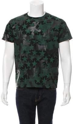 Valentino Rockstud Camouflage print T-shirt