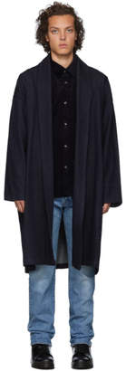 Naked & Famous Denim Denim Indigo Loose Weave Denim Overcoat