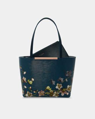 Ted Baker SHANTAL Arboretum mini leather shopper bag