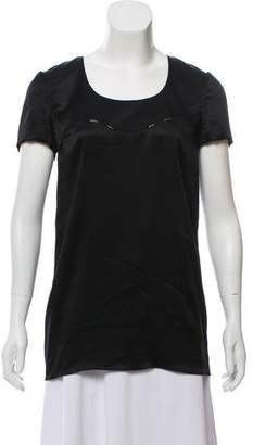Bottega Veneta Short Sleeve Silk Blouse