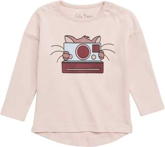 City Mouse Cat Photographer Graphic Tee