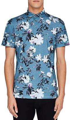 Ted Baker Scruff Floral Print Regular Fit Polo