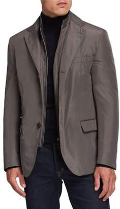 Corneliani Men's Nylon Travel Blazer w/ Removable Dickey