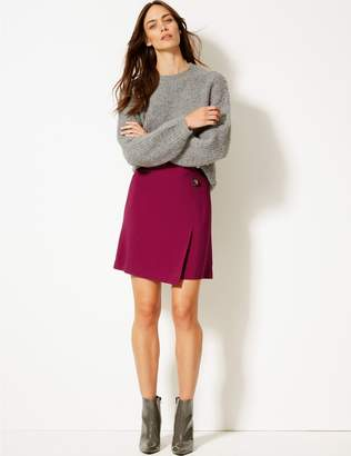 Marks and Spencer Button Detail Wrap Mini Skirt