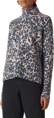 Whistles Jungle Cat Print Sweater