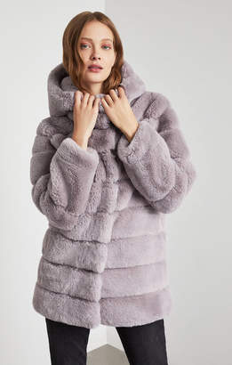 BCBGMAXAZRIA Felicia Faux Fur Hooded Coat