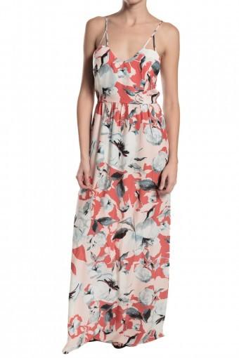 PARKER Kisa Maxi Printed Dress Strawberry