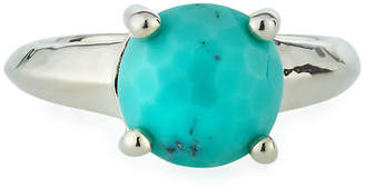 Ippolita Silver Rock Candy Knife Edge Ring in Turquoise, Size 6
