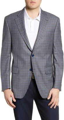 Peter Millar Hyperlight Classic Fit Check Wool Blend Sport Coat