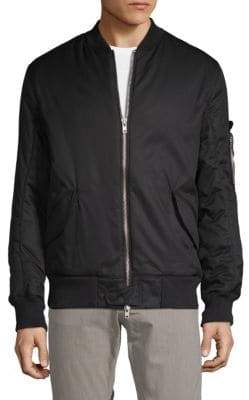 Helmut Lang Padded Cotton Bomber Jacket